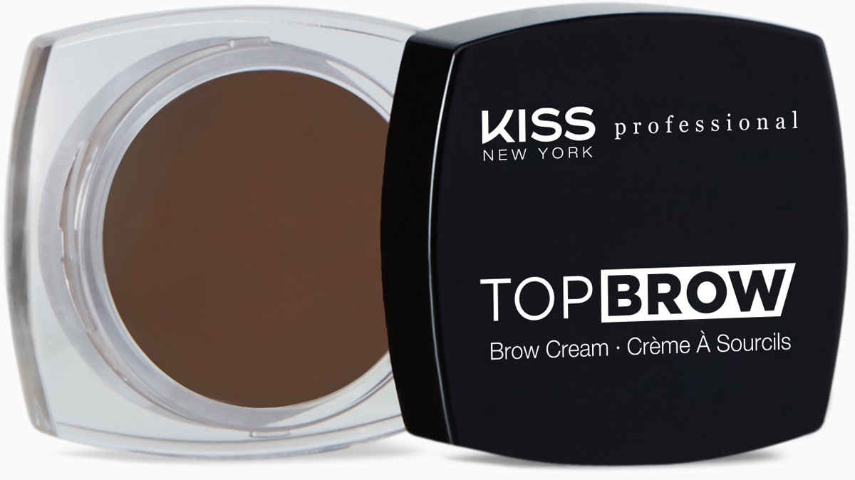 Kiss New York Professional Помада для бровей Top brow, Ebony, 3 г помада kiss new york professional ulti matte lip crayon 15 цвет 15 meat packing variant hex name d44a82