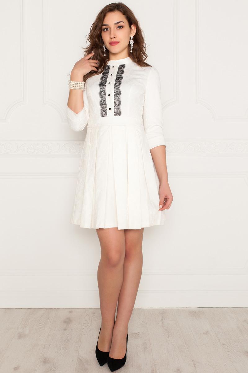 Платье Lautus, цвет: белый. 985. Размер 46985