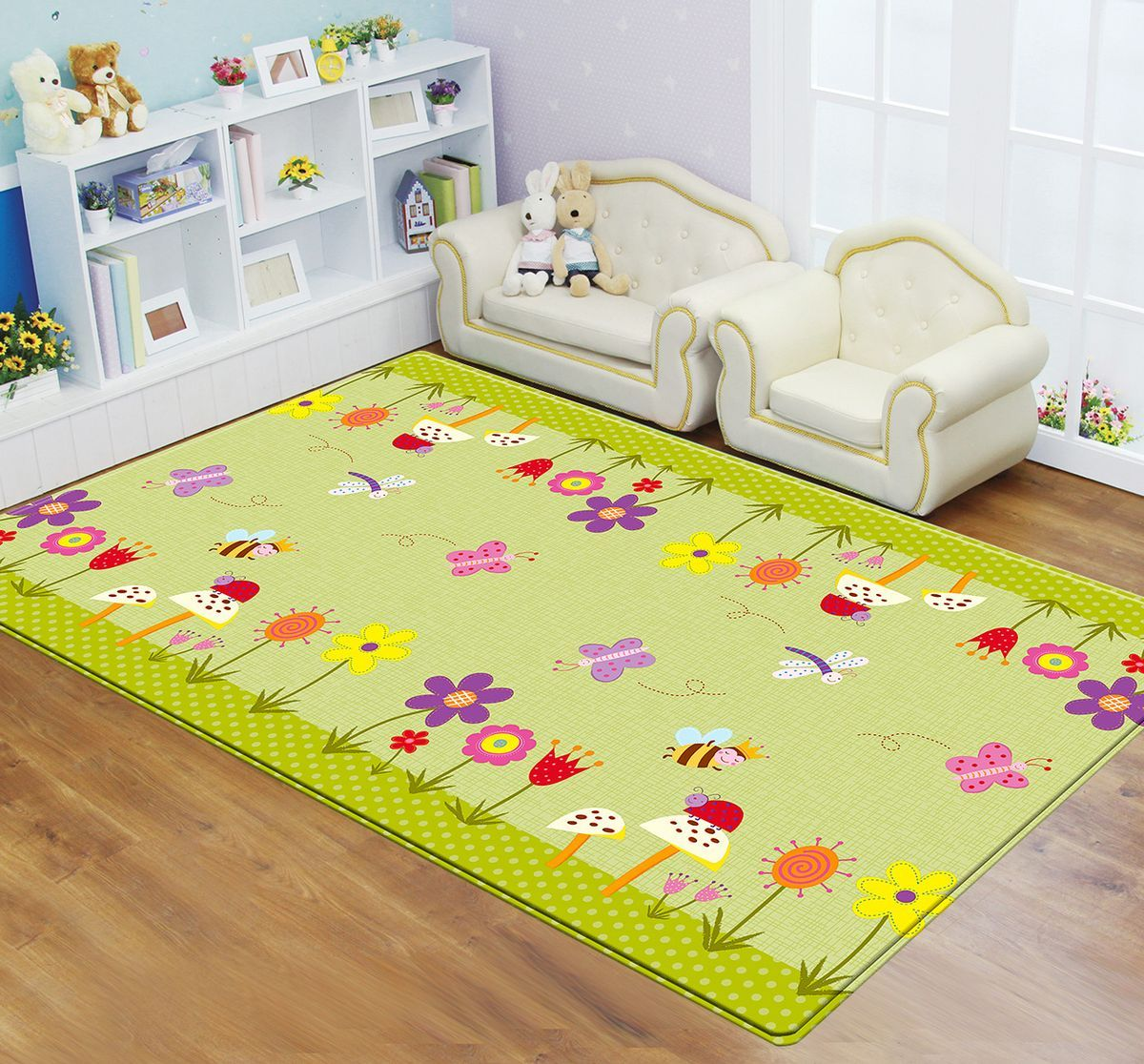 Dwinguler Коврик игровой Medium-15 Garden Delight Green