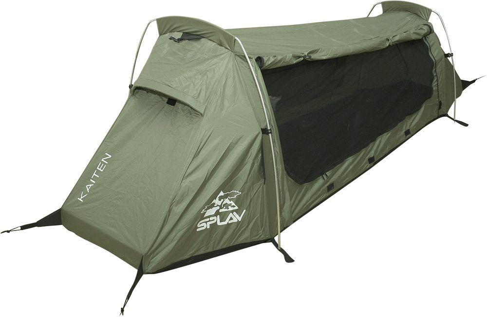 Палатка Сплав Kaiten, одноместная, цвет: хаки5057091Уникальная сверхлегкая однослойная дуговая палатка. Максимально быстрая и простая в установке палатка. Для простой установки потребуется всего четыре колышка. Благодаря гнутым сочленениям дуг, объем палатки вполне комфортен для одного человека, при этом место для установки палатки потребуется немногим больше, чем занимает туристический коврик. Все швы проклеены. Вентиляционные окна на торцевых скатах и большое вентиляционное окно с противомоскитной сеткой на задней стенке создают хорошую проточную вентиляцию. Разъемные стягивающие стропы на упаковочной сумке позволят легко ее закрепить под рюкзаком без дополнительных элементов крепления. При этом палатку можно будет доставать из сумки, не отстегивая саму сумку от рюкзака (необходимое условие: рюкзак должен иметь на дне стропы для внешней навески). Веревки оттяжек имеют вплетенную светоотражающую нить . Сезонность: 3. Количество мест: 1. Количество дуг: 2. Габариты и вес: Размеры внешней палатки, тента (Д?Ш?В): 235?80?75 см. Размеры в упакованном виде (Д?Ш?В): 44?12?12 см. Полный вес: 1,56 кг. Минимальный вес (без чехла и колышков): 1,26 кг. Материалы: Внешний тент: Polyester 75D/190T PU 3000 мм. Дно: Polyester 100D PU 5000 мм. Дуги: Алюминиевый сплав 7001 T6 O8,5 мм. Фурнитура: YKK.