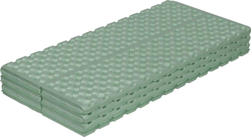 Коврик туристический Сплав Thermacell 1.5, цвет: оливковый, 182 х 56 см5105333Коврик Сплав Thermacell 1.5 изготовлен из закрытопористого вспененного материала этиленвинилацетат (ЭВА), который обладает большой плотностью и высоким сопротивлением нагрузкам на разрыв и сгиб (лучшими, чем у пенополиэтилена), теплоизоляционными качествами и способностью сохранять форму и гибкость при охлаждении.От пенополиэтиленовых ковриков коврики из ЭВА отличаются и большим сопротивлением к сжатию (упругостью), что в сочетании с малым размером ячеек позволяет снизить конвекцию и получить лучшие теплоизоляционные свойства.Шершавая поверхность коврика увеличивает сопротивление скольжению спального мешка.Из-за малой толщины данного коврика, мы рекомендуем использовать его при плюсовых температурах или в качестве дополнительной прослойки.Рифлёная поверхность увеличивает толщину прослойки между лежащим человеком и землей, кроме того заполняющий выемки воздух повышает термоизоляцию коврика.Кроме того рифлёные коврики снижают степень «отсыревания» спальных мешков, так как конденсат собирается в выемках коврика, не впитываясь в спальник.