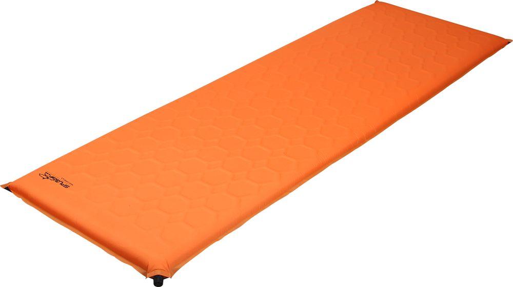 Коврик самонадувающийся Сплав Maxi Camp 6.4, цвет: оранжевый, 198 х 64 см5107975Этот коврик - идеальное решение для кемпингов, стационарных палаточных и базовых лагерей, в общем, для всех случаев, когда можно позволить устроить свой быт красиво. Кроме того - это выход для крупных людей уже начинающих привыкать к тому, что ноги нужно устраивать на ночлег отдельно. Коврик выполнен из пенополиуретана и изолирован от случайностей плотной воздухо-водонепроницаемой тканью 210T Diamond Polyester. Этот легкий и мягкий полиэстеровый материал имеет и повышенную сопротивляемость к разрезам и проколам. Однако экспериментировать над ковриком все же не стоит и обращаться с ним нужно аккуратно. Вспененный полиуретан обеспечивает прекрасную теплоизоляцию и упругость характерную для ортопедических матрацев.Антискользящее покрытие на нижней стороне коврика препятствует стремлению ковров расползаться по палатке. Транспортный чехол в комплекте.