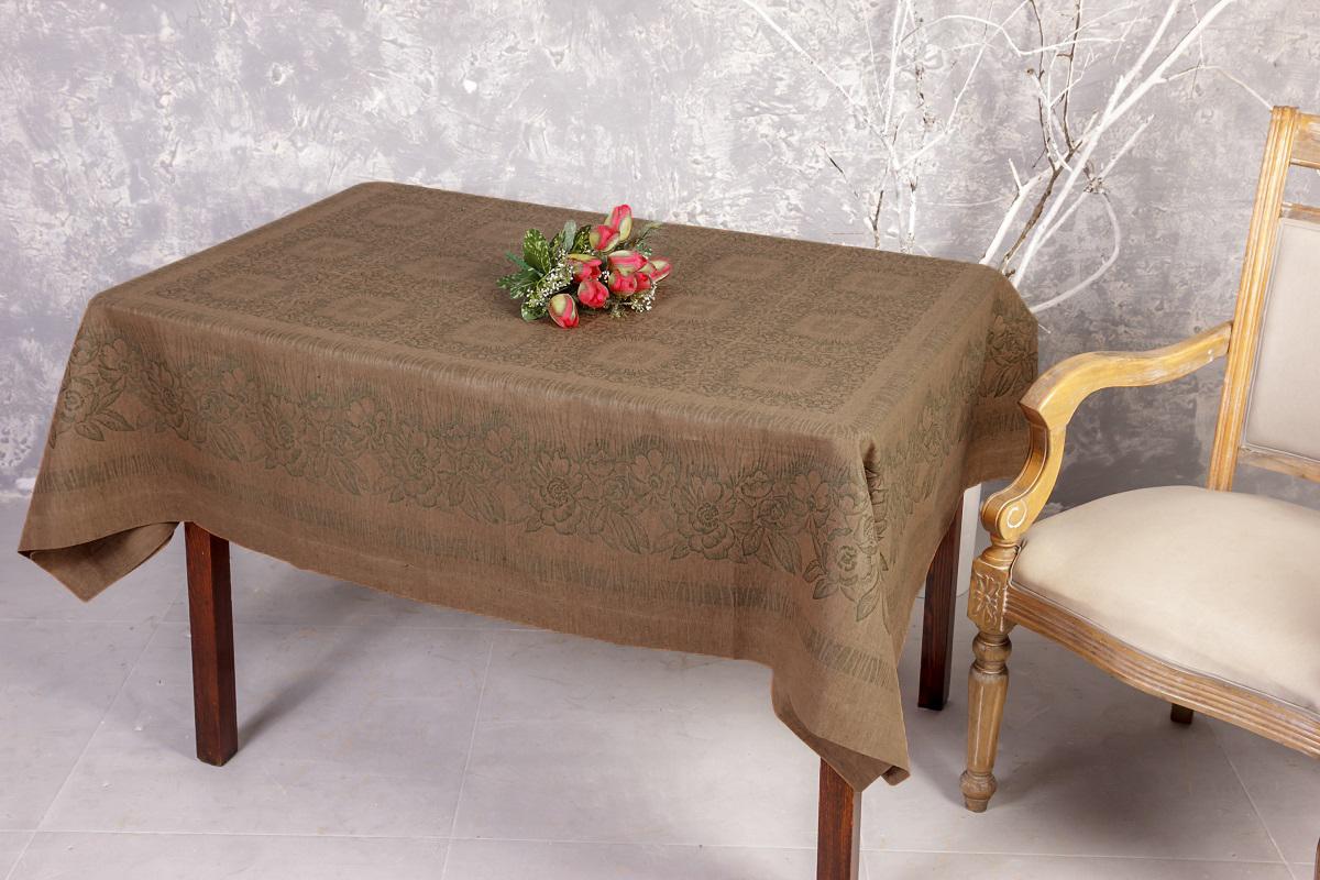 Жаккардовая скатерть из льна и хлопка, отделанная зашаркой, придаст  праздничный вид любому столу!  Лён - поистине, уникальный природный  материал, экологичнее которого сложно придумать. История льна восходит к  Древнему Египту: в те времена одежда из льна считалась достойной фараонов!  На Руси лён возделывали с незапамятных времен - изделия из льняной ткани  считались показателем достатка, а льняная одежда служила символом  невинности и нравственной частоты. Изделия из льна обладают уникальными  потребительскими свойствами: льняное постельное белье даст вам ощущение  прохлады в жаркую ночь и согреет в холода, скатерти из натурального льна  придадут вашему дому уют и тепло натурального материала, а льняные полотенца  порадуют вас невероятно долгим сроком службы на вашей кухне!