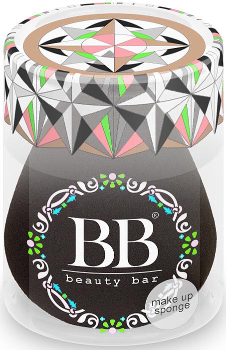 Спонж для макияжа Beauty Bar, цвет: черный820442Уникальный спонж для макияжа Beauty Bar. Он равномерно наносит макияж. Подходит для тональных и других кремообразных основ. Особая форма делает этот спонж еще более удобным: заостренный кончик предназначен для областей вокруг носа и век. Спонж Beauty Bar позволяет экономить косметические средства и при этом всегда добиваться превосходного результата
