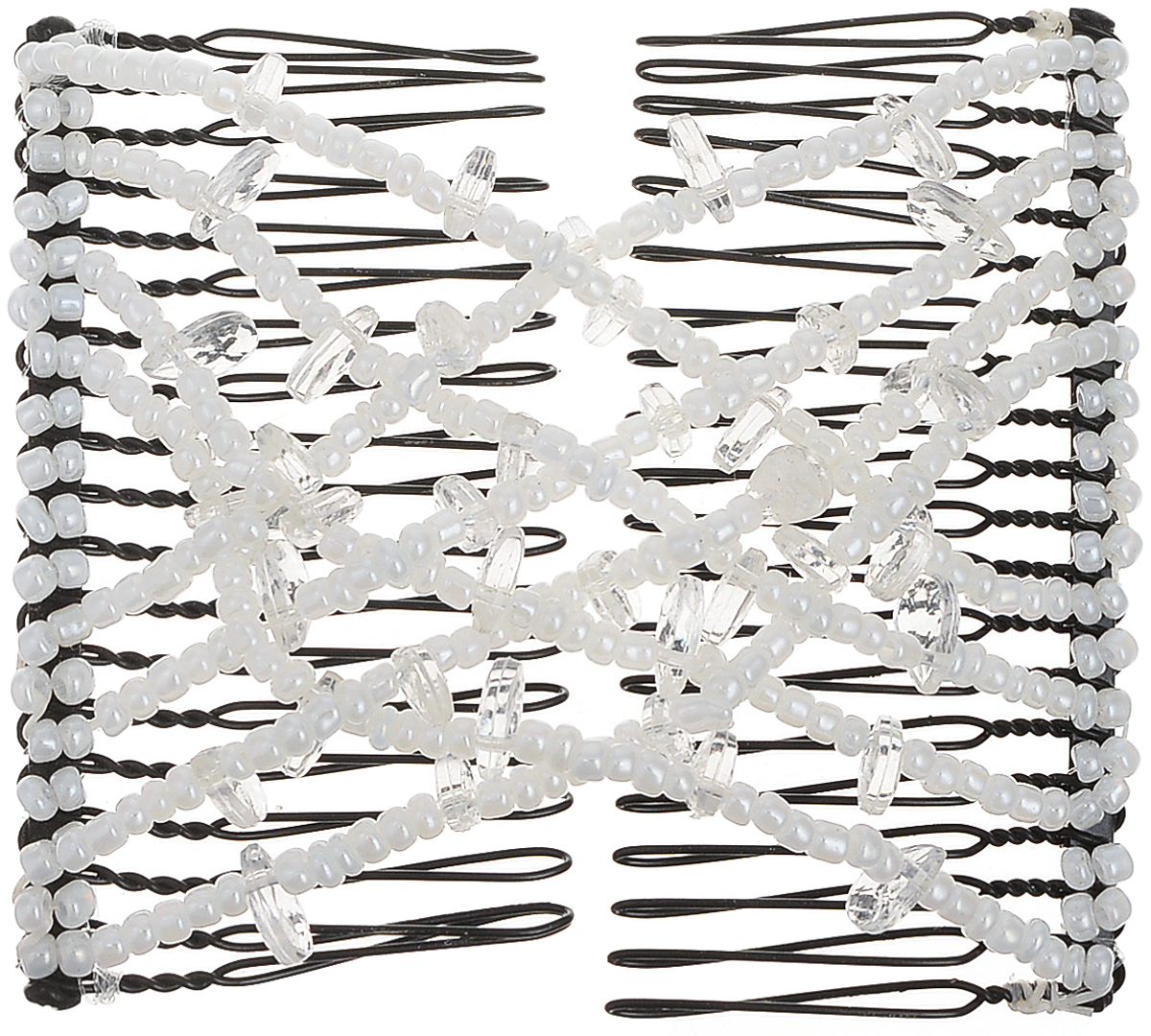EZ-Combs Заколка Изи-Комбс, одинарная, цвет: прозрачный. ЗИО_кристаллыЗИО_прозрачный/кристаллыУдобная и практичная EZ-Combs подходит для любого типа волос: тонких, жестких, вьющихся или прямых, и не наносит им никакого вреда. Заколка не мешает движениям головы и не создает дискомфорта, когда вы отдыхаете или управляете автомобилем. Каждый гребень имеет по 20 зубьев для надежной фиксации заколки на волосах! И даже во время бега и интенсивных тренировок в спортзале EZ-Combs не падает; она прочно фиксирует прическу, сохраняя укладку в первозданном виде.Небольшая и легкая заколка для волос EZ-Combs поместится в любой дамской сумочке, позволяя быстро и без особых усилий создавать неповторимые прически там, где вам это удобно. Гребень прекрасно сочетается с любой одеждой: будь это классический или спортивный стиль, завершая гармоничный облик современной леди. И неважно, какой образ жизни вы ведете, если у вас есть EZ-Combs, вы всегда будете выглядеть потрясающе.