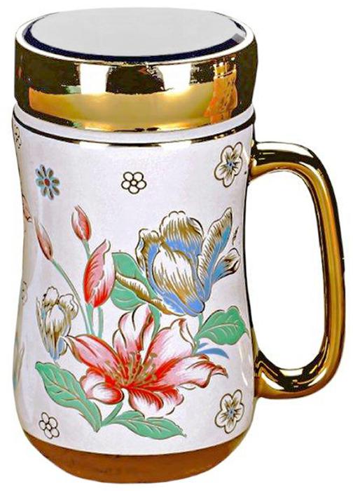 Термокружка LarangE Бьюти, 500 мл593-109Оригинальная термокружка станет одним из любимых аксессуаров, который подчеркнет ваш стиль и создаст настроение при каждом чаепитии.