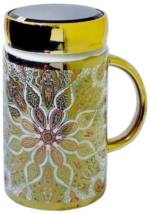 Термокружка LarangE Азия, 500 мл593-106Оригинальная термокружка станет одним из любимых аксессуаров, который подчеркнет ваш стиль и создаст настроение при каждом чаепитии.