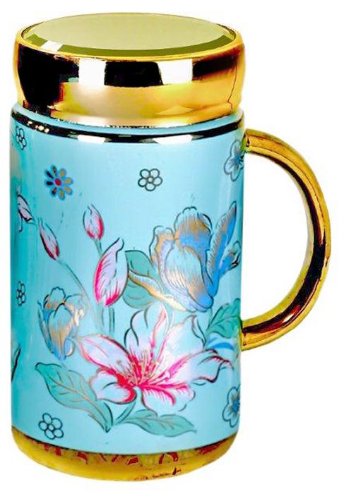 Термокружка LarangE Лазурь, 500 мл593-104Оригинальная термокружка станет одним из любимых аксессуаров, который подчеркнет ваш стиль и создаст настроение при каждом чаепитии.