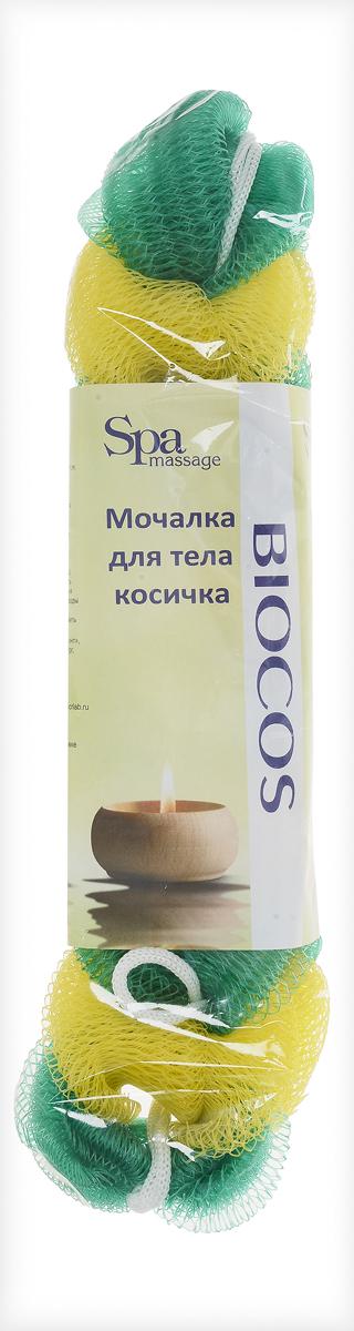 BioCos Мочалка для тела Косичка, цвет: желтый, зеленый5955_желтый, зеленыйМочалка для тела BioCos Косичка обладает тонизирующим эффектом. Подходит для ежедневного применения. Деликатно и нежно очищает кожу, легко вспенивает даже небольшое количество геля или мыла. Обладает приятным отшелушивающим эффектом, мочалка массирует кожу, снимая усталость и напряжение. Служит долго, сохраняя свою первоначальную форму.Перед использованием размочить в горячей воде. После применения тщательно промыть под струей воды и высушить.Состав: безузловая сетка.