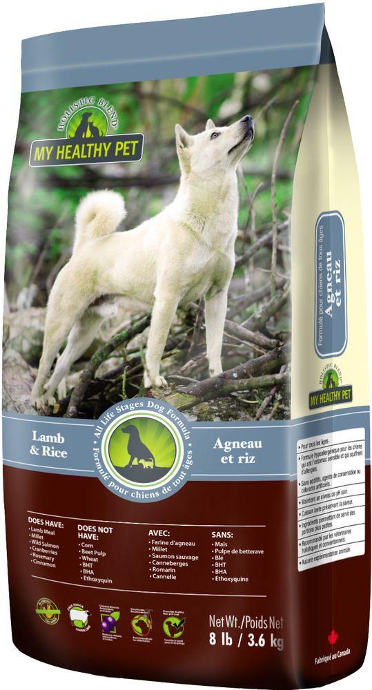 """Корм сухой """"Holistic Blend"""" для собак, ягненок и рис, 3,6 кг"""