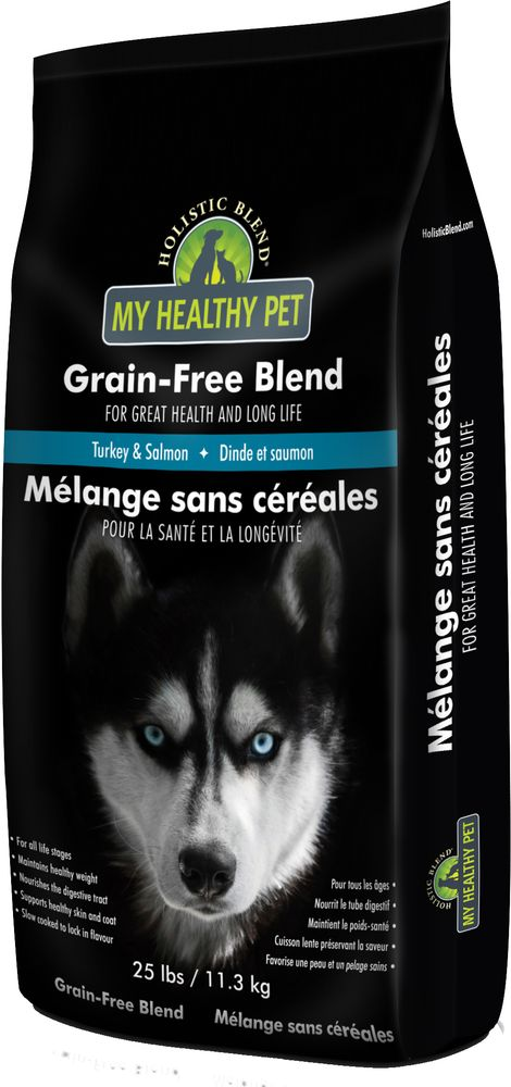 Корм сухой Holistic Blend Grain-Free, для собак, индейка и лосось, 11,3 кг корм сухой holistic blend grain free для кошек 5 морских рыб беззерновой 6 8 кг