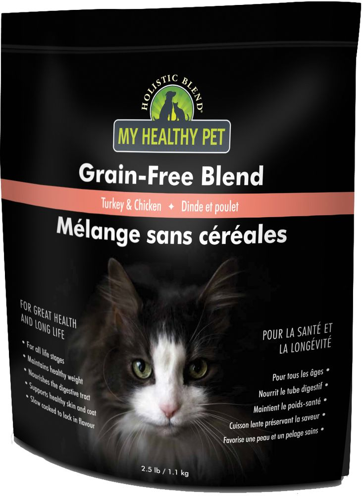 Корм сухой Holistic Blend Grain-Free, для кошек, индейка и цыпленок, беззерновой, 1,1 кг сухой корм primordial grain free holistic dog adult all breed with deer