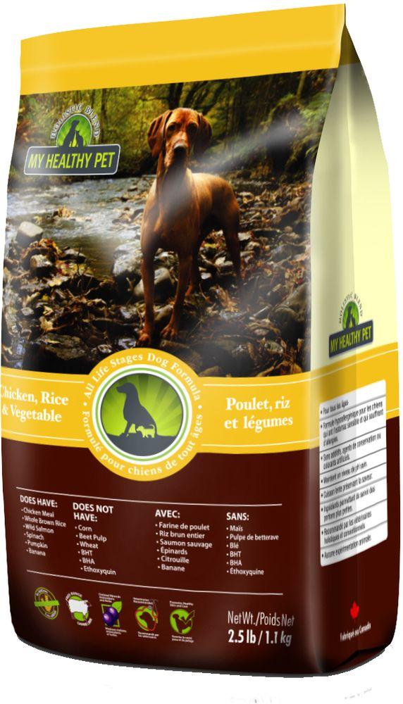 "Корм сухой ""Holistic Blend"", для собак, цыпленок, рис и овощи, 1,1 кг"