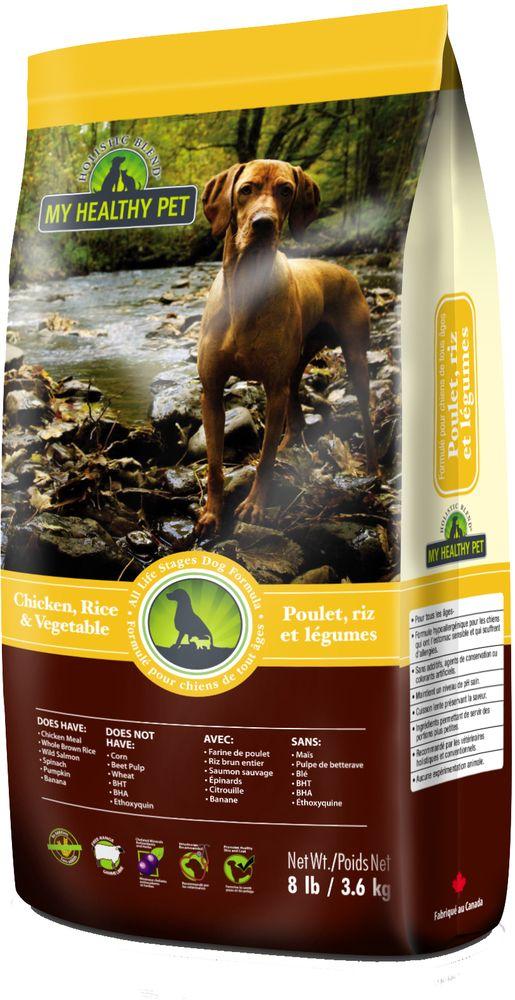 "Корм сухой ""Holistic Blend"", для собак, цыпленок, рис и овощи, 3,6 кг"