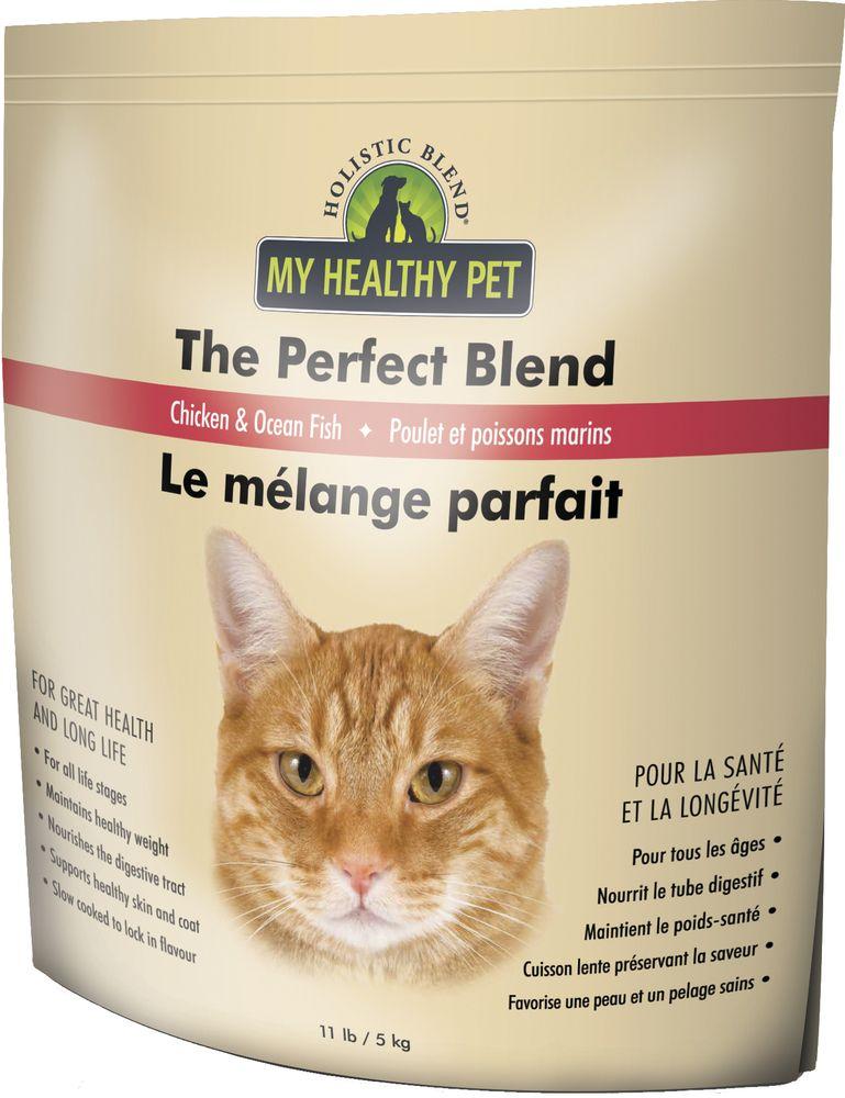 Корм сухой Holistic Blend Perfect Blend для кошек, Цыпленок и Белая рыба, 5 кг multi function green