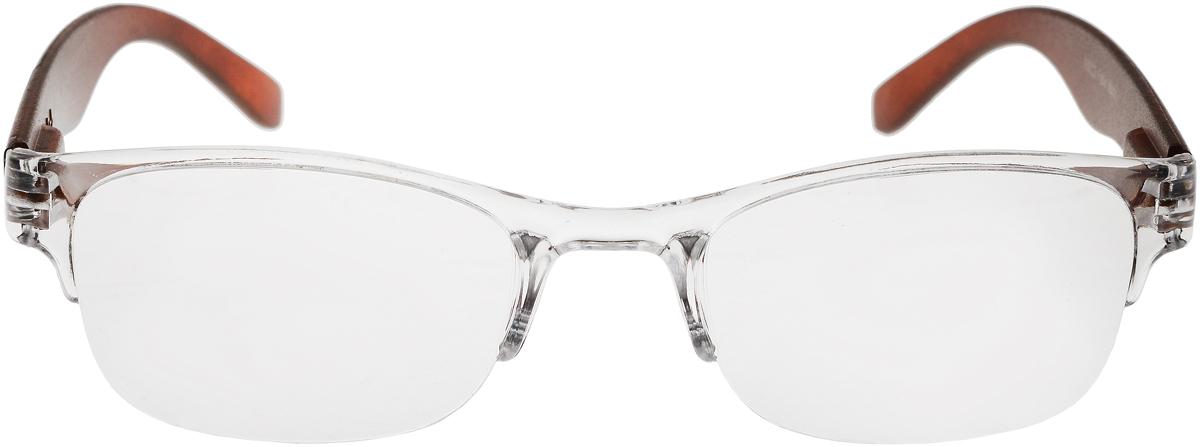 Proffi Home Очки корригирующие (для чтения) 322 Fabia Monti +0.75, цвет: прозрачный, коричневыйPH5535_коричневыйКорригирующие очки, это очки которые направлены непосредственно на коррекцию зрения. Готовые очки для чтения с минусовыми и плюсовыми диоптриями (от -2,5 до + 4,00), не требующие рецепта врача. За счет технологически упрощенной конструкции и отсутствию этапа изготовления линз по индивидуальным параметрам - экономичный готовый вариант для людей, пользующихся очками нечасто, в основном, для чтения.
