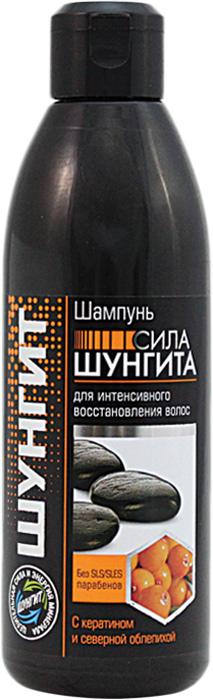 Шампунь Природная аптека Шунгит Сила Шунгита для интенсивного восстановления волос, 300 мл