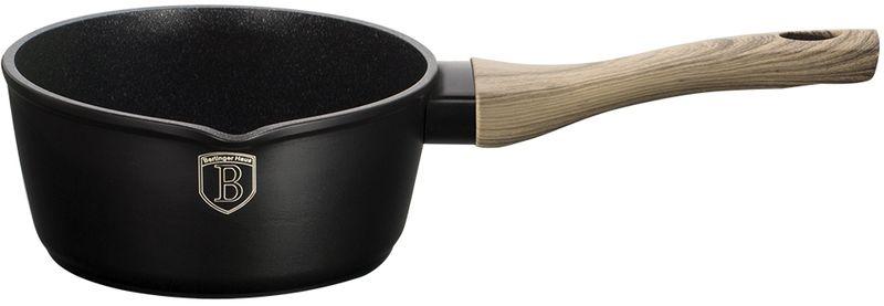 Ковш Berlinger Haus Forest Line, с антипригарным покрытием, цвет: черный, 1,2 л. 1704-ВН1704-ВНКовш, 16см, с носиком для слива, кованый алюминий, толщина стенок 0,5 см, высота 13 см, объём 1,2 л, 3 слоя мраморно-гранитного покрытия эргономичная ручка soft touch, индукционное дно, подставка под горячее в подарок, цвет: черный. Подходит для всех видов плит: газовых, электрических, стеклокерамических, галогенных, индукционных.