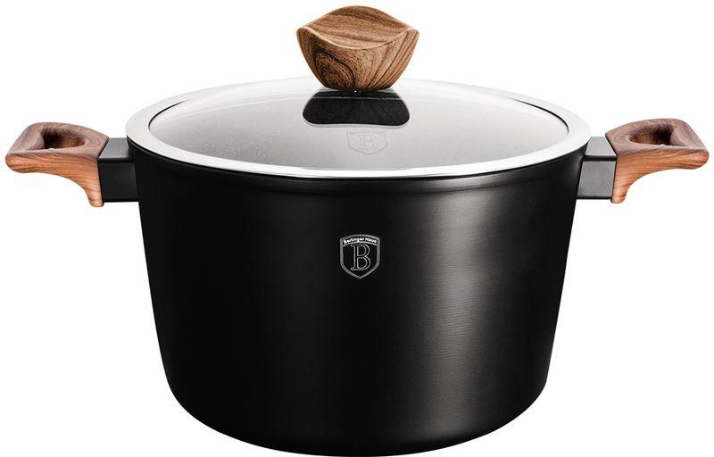 Кастрюля Berlinger Haus  Forest Line  с крышкой, с антипригарным покрытием, цвет: черный, 6 л - Посуда для приготовления