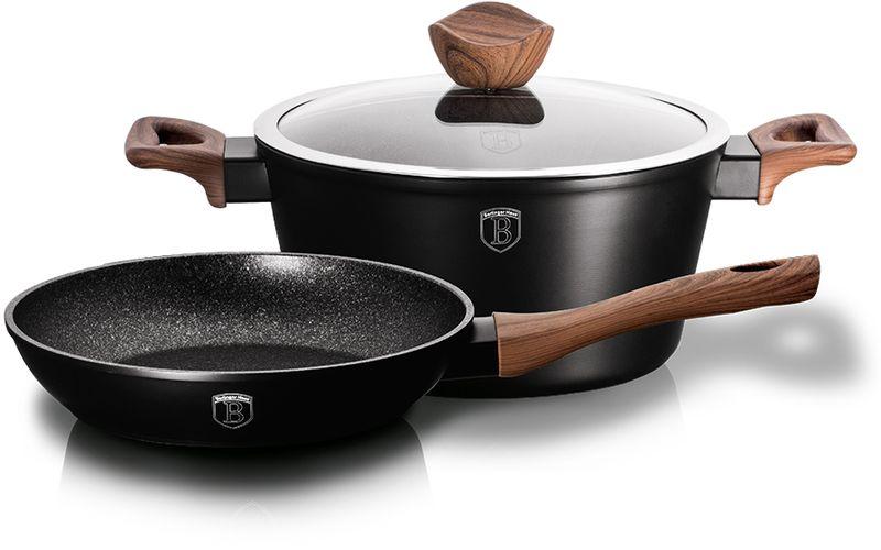 Набор посуды Berlinger Haus  Forest Line , с антипригарным покрытием, цвет: черный, 3 предмета - Посуда для приготовления