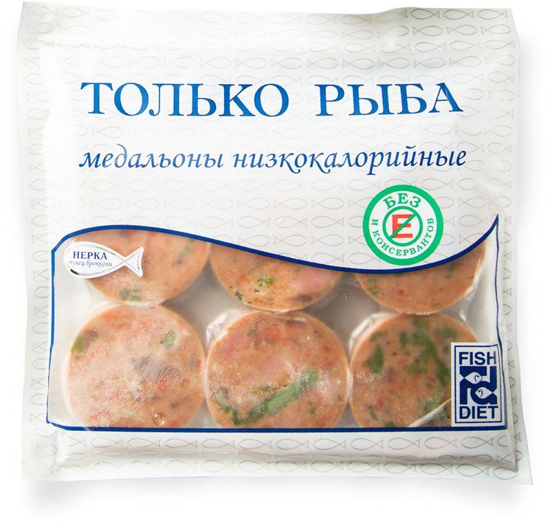 Fish Dieta Медальоны из нерки, тунца и брокколи, 300 г fish dieta медальоны из кижуча 300 г