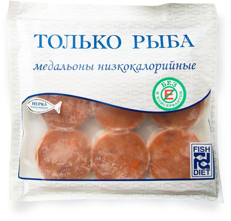 Fish Dieta Медальоны из нерки, тунца, моркови, 300 г fish dieta медальоны из кижуча 300 г
