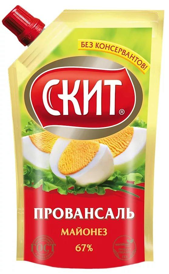 Скит Майонез Провансаль, 67%, 225 млСК232Майонез Скит Провансаль изготавливается одноименной российской компанией по традиционной рецептуре из натурального отборного сырья с незначительным добавлением подсолнечного и рапсового масла. Провансаль характеризуется плотной и густой консистенцией, обладает средней соленостью, подходит как приправа для вторых блюд и заправки салатов.Упаковка Скитоснащена удобным дозатором для экономного использования.Пищевая ценность на 100 г: жиры 67 г, белки 0,8 г, углеводы 2,6 г.