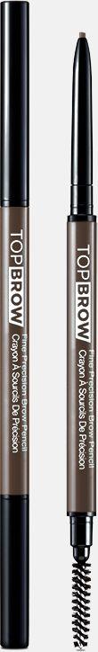 Kiss New York Professional Контурный карандаш для бровей со щеточкой Top brow Fine precision, Пепельный блондKBPP01Двусторонний карандаш для бровей: выкручивающийся ультратонкий грифель и щеточка для растушевки. Естественный цвет карандаша идеально подойдет для создания натурального эффекта макияжа бровей. Формула-пудра+воск сильной прессовки в грифеле карандаша,увлажняющее овощное масло, карнаубский воск-позволяет пудровому цвету ложиться плавно и равномерно. Цвет отлично держится в течение всего дня.Как создать идеальные брови: пошаговая инструкция. Статья OZON Гид