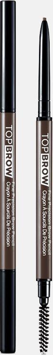 Kiss New York Professional Контурный карандаш для бровей со щеточкой Top brow Fine precision, серо-коричневыйKBPP02Двусторонний карандаш для бровей: выкручивающийся ультратонкий грифель и щеточка для растушевки. Естественный цвет карандаша идеально подойдет для создания натурального эффекта макияжа бровей. Формула-пудра+воск сильной прессовки в грифеле карандаша,увлажняющее овощное масло, карнаубский воск-позволяет пудровому цвету ложиться плавно и равномерно. Цвет отлично держится в течение всего дня.