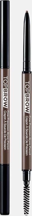 Kiss New York Professional Контурный карандаш для бровей со щеточкой Top brow Fine precision, коричневыйKBPP03Двусторонний карандаш для бровей: выкручивающийся ультратонкий грифель и щеточка для растушевки. Естественный цвет карандаша идеально подойдет для создания натурального эффекта макияжа бровей. Формула-пудра+воск сильной прессовки в грифеле карандаша,увлажняющее овощное масло, карнаубский воск-позволяет пудровому цвету ложиться плавно и равномерно. Цвет отлично держится в течение всего дня.Как создать идеальные брови: пошаговая инструкция. Статья OZON Гид