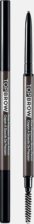 Kiss New York Professional Контурный карандаш для бровей со щеточкой Top brow Fine precision, коричнево-серыйKBPP04Двусторонний карандаш для бровей: выкручивающийся ультратонкий грифель и щеточка для растушевки. Естественный цвет карандаша идеально подойдет для создания натурального эффекта макияжа бровей. Формула-пудра+воск сильной прессовки в грифеле карандаша,увлажняющее овощное масло, карнаубский воск-позволяет пудровому цвету ложиться плавно и равномерно. Цвет отлично держится в течение всего дня.