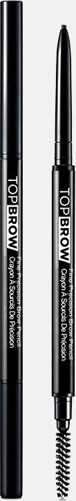 Kiss New York Professional Контурный карандаш для бровей со щеточкой Top brow Fine precision, ГрафитKBPP06Двусторонний карандаш для бровей: выкручивающийся ультратонкий грифель и щеточка для растушевки. Естественный цвет карандаша идеально подойдет для создания натурального эффекта макияжа бровей. Формула-пудра+воск сильной прессовки в грифеле карандаша,увлажняющее овощное масло, карнаубский воск-позволяет пудровому цвету ложиться плавно и равномерно. Цвет отлично держится в течение всего дня.Как создать идеальные брови: пошаговая инструкция. Статья OZON Гид