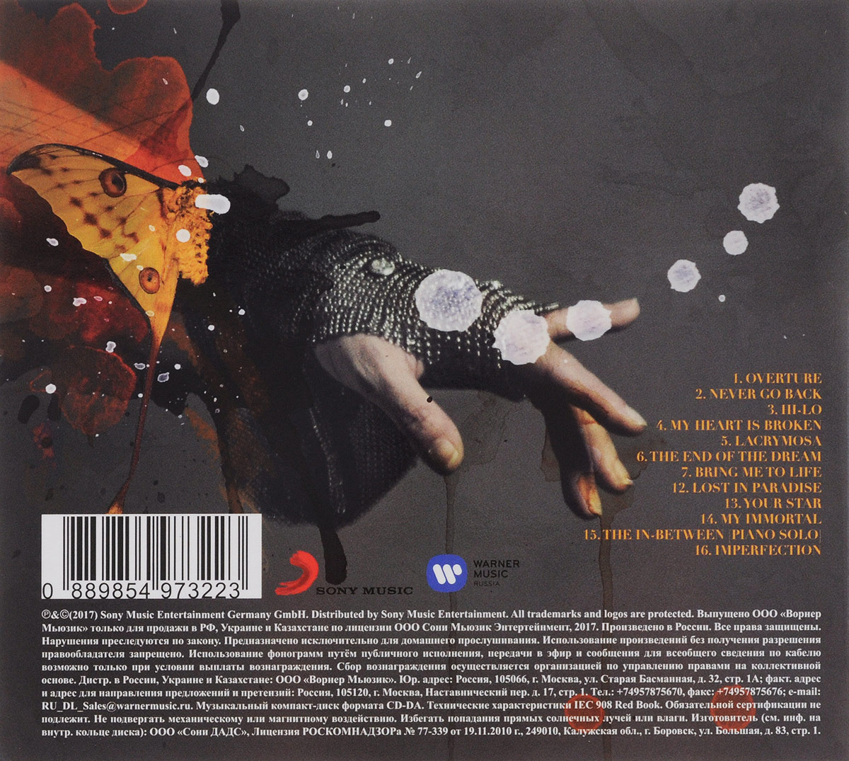 Evanescence.  Synthesis Sony Music