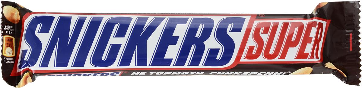 Snickers Super шоколадный батончик, 95 г