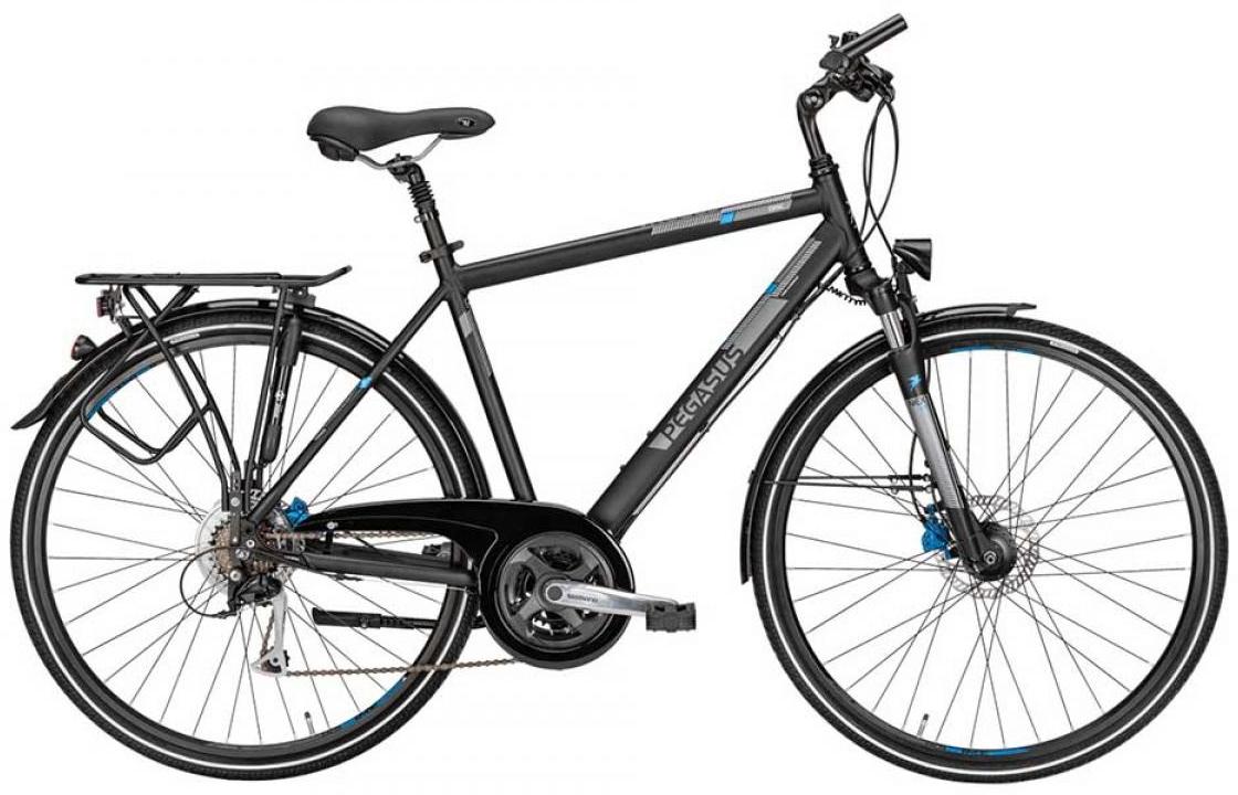 Велосипед городской Pegasus Corona Gent 21 2015, цвет: черный, рама 24, колесо 28254258