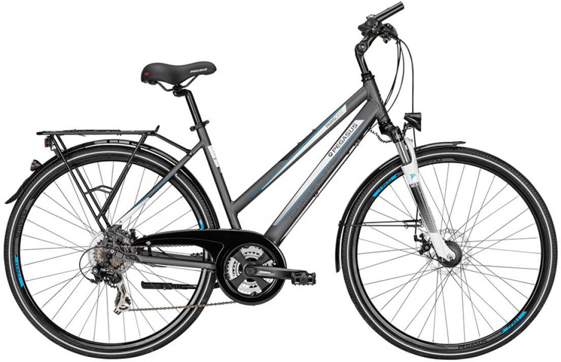 Велосипед женский Pegasus Paris 21 2015, цвет: серый, рама 18, колесо 28. 254265254265