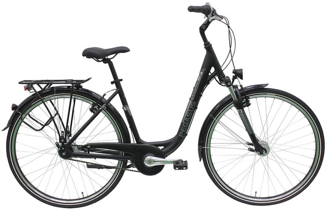 Велосипед женский Pegasus Piazza Deep 8 2016, цвет: черный, рама 19,5, колесо 28259086