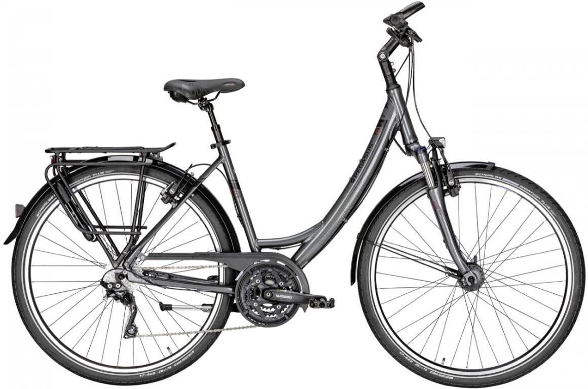 Велосипед женский Pegasus Premio SL M Plus Wave 30 2016, цвет: синий, рама 21,5, колесо 28259178