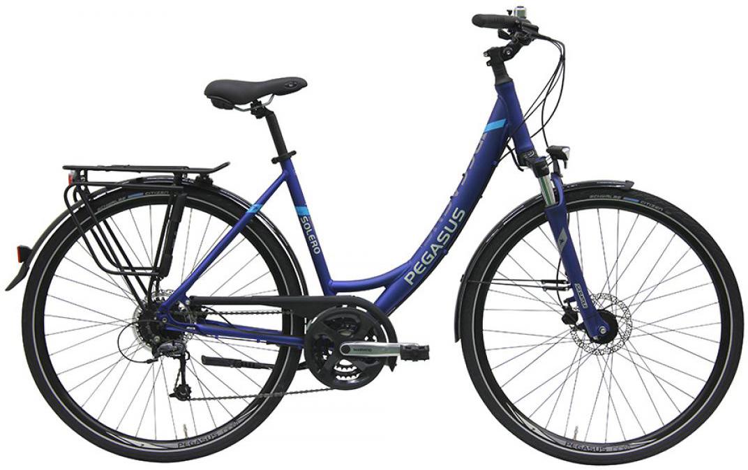 Велосипед женский Pegasus Solero SL Disc Wave 24 2016, цвет: синий, рама 17,5, колесо 28259274