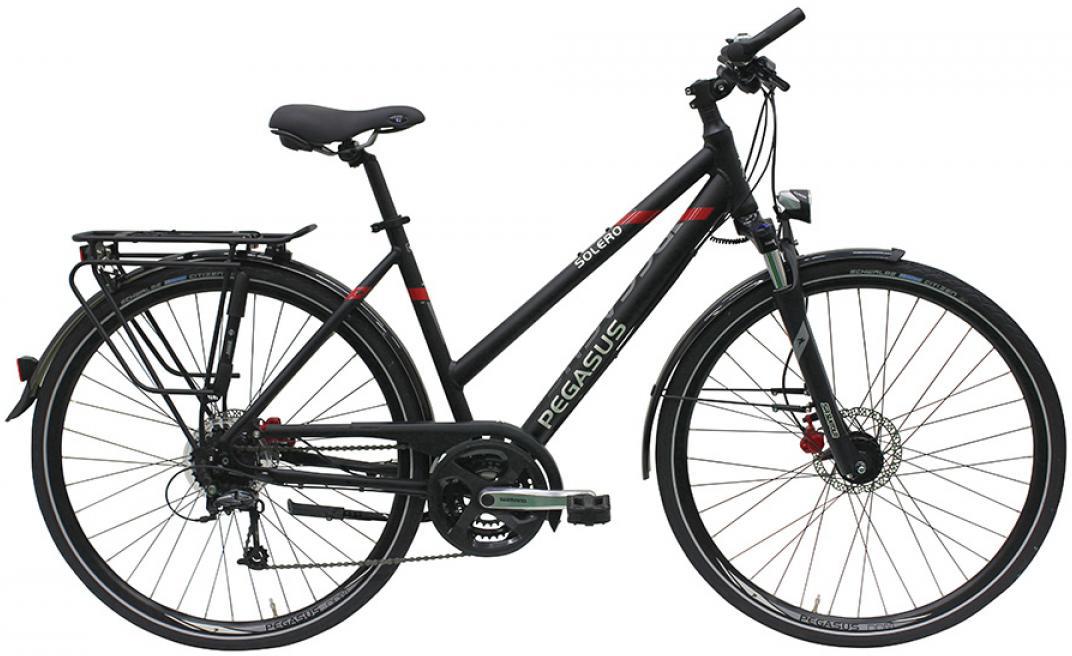 Велосипед женский Pegasus Solero SL Disc Trapez 24 2016, цвет: черный, рама 19,5, колесо 28259288