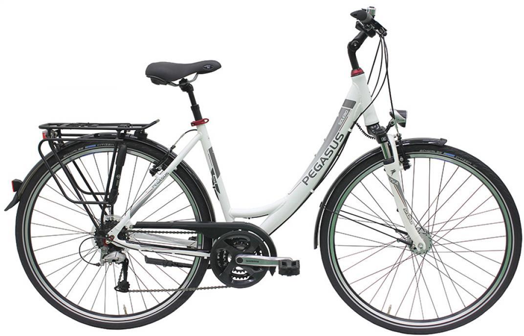 Велосипед женский Pegasus Solero SL Wave 24 2016, цвет: белый, рама 17,5, колесо 28259344