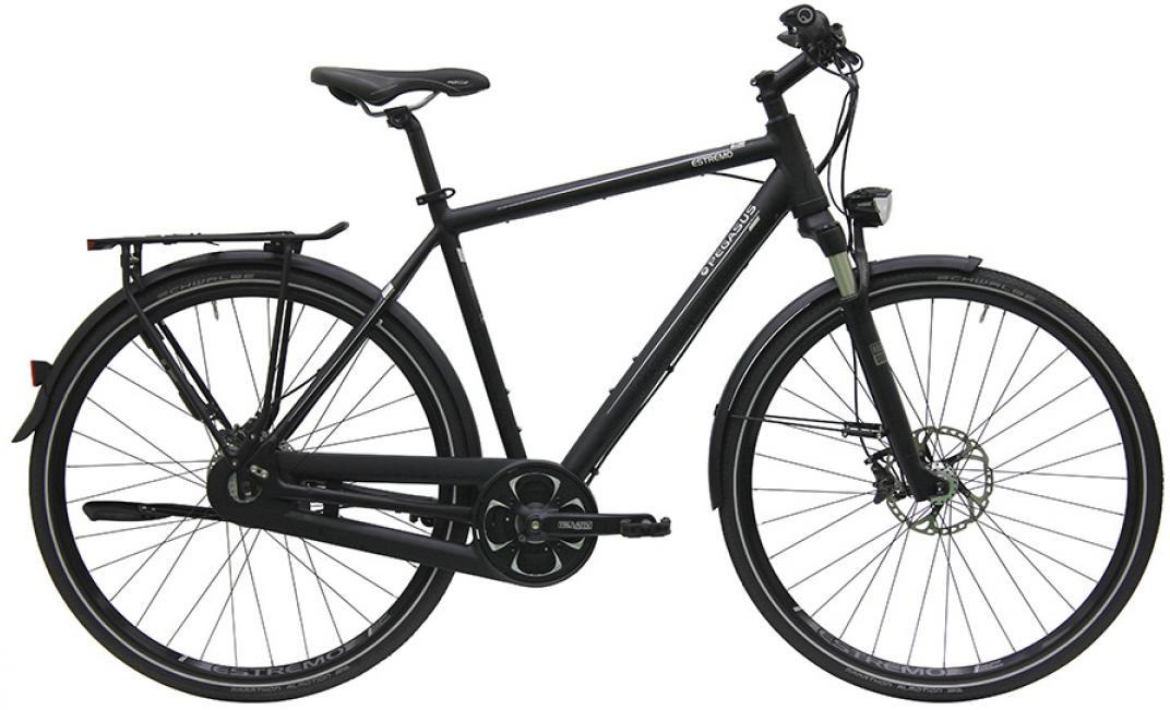 Велосипед городской Pegasus Estremo R14 Gent 14 2016, цвет: черный, рама 23,5, колесо 28259470
