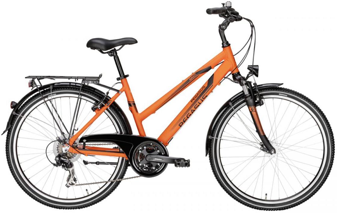 Велосипед женский Pegasus Avanti Trapez 21 2016, цвет: черный, рама 15, колесо 26259656