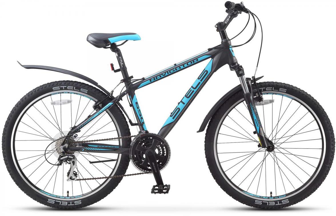 Велосипед горный Stels Navigator 650 V 2016, цвет: голубой, рама 19,5, колесо 26261945