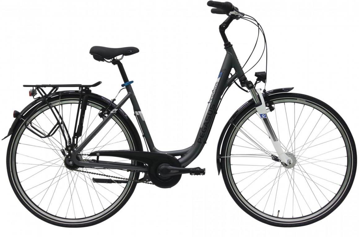 Велосипед городской Pegasus Piazza Deep 7 2017, цвет: серый, рама 21, колесо 28270163