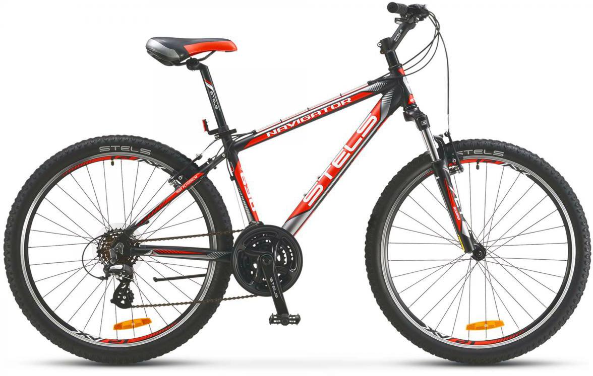 Велосипед горный Stels Navigator-630 V V010 2017, цвет: черный, рама 15,5, колесо 26283068