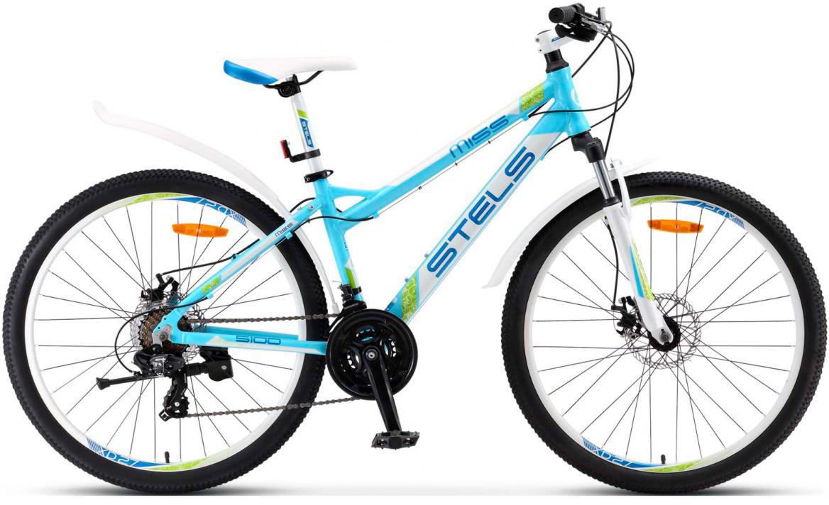 Велосипед горный Stels Miss-5100 MD V030 2017, цвет: белый, рама 17, колесо 26284231