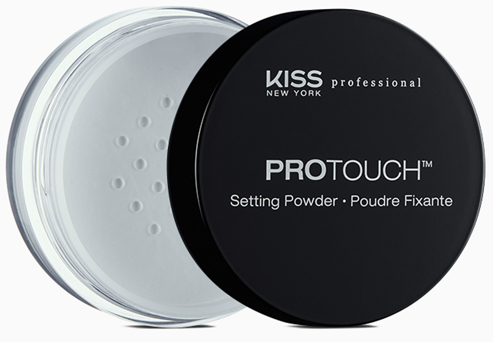 Kiss New York Professional Рассыпчатая фиксирующая пудра Protouch, 10 г румяна kiss new york professional this moment blush 02 цвет 02 before sunset variant hex name e78374