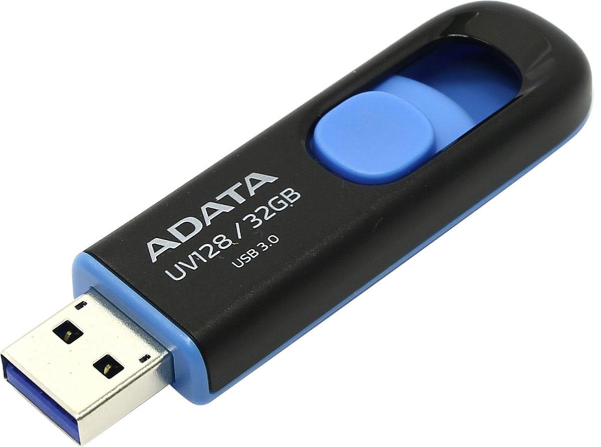 ADATA UV128 32GB, Black Blue USB флеш-накопитель - Носители информации