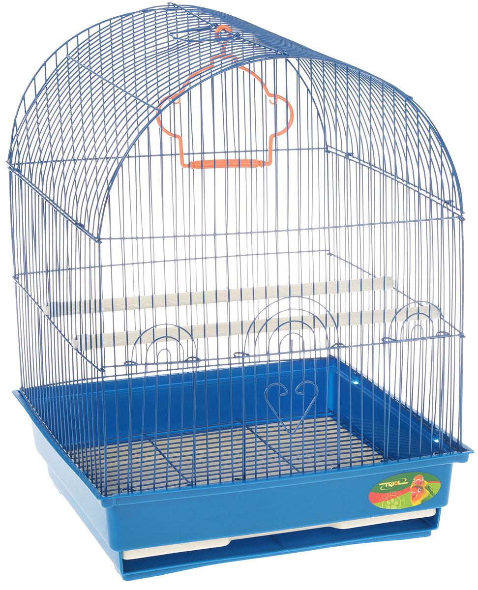 Клетка для птиц Triol, цвет: синий, 35 х 28 х 46 см клетка для мелких животных triol на колесиках 64 см х 43 5 см х 92 5 см